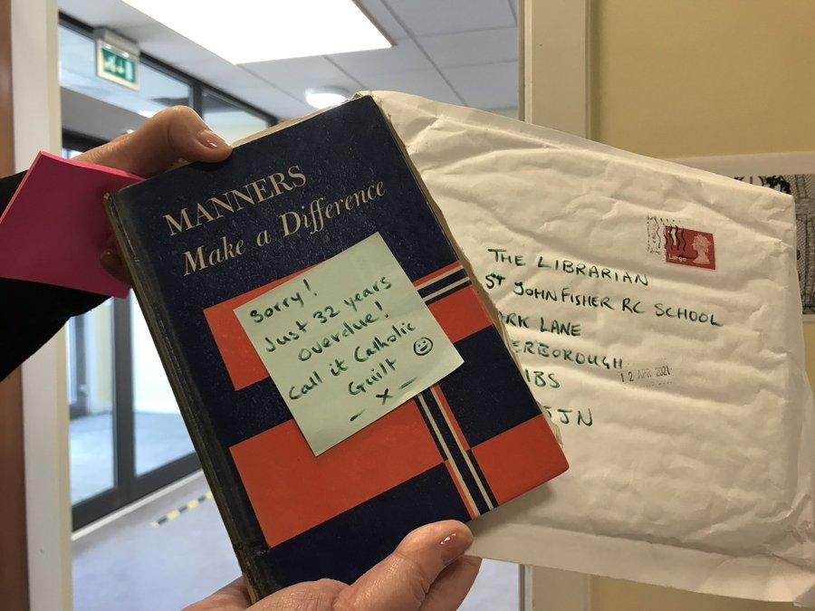 Overdue library book returned to high school after 32 years